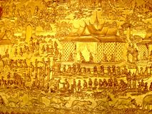 Buddhist mural. Close up of a Buddhist mural Royalty Free Stock Photos
