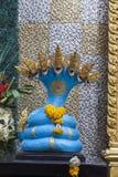 The Buddhist naga deity sculpture Royalty Free Stock Photos