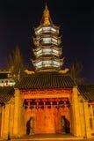 Buddhist Nanchang Temple Wooden Door Pagoda Wuxi Jiangsu China N Royalty Free Stock Image