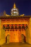 Buddhist Nanchang Temple Wooden Door Pagoda Wuxi Jiangsu China Royalty Free Stock Image