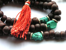 Buddhist necklace. For prayers Royalty Free Stock Images