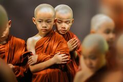 Buddhist novice boy monks