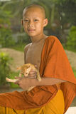 Buddhist Novice in Laos Stock Photos