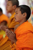 Buddhist novice in Luang Prabang, Laos. Stock Photos