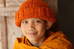 Buddhist novice in Luang Prabang, Laos. Royalty Free Stock Photography