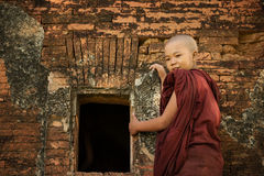 Buddhist novice monk stock photography