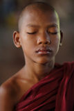 Buddhist novice, Myanmar Royalty Free Stock Images