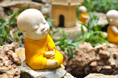 Buddhist novice sculpture Royalty Free Stock Images