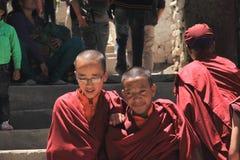 Buddhist novices, Ladakh. Royalty Free Stock Photos