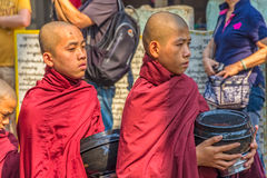 Buddhist novices in Mandalay Royalty Free Stock Photo