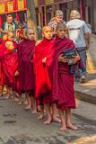 Buddhist novices in Mandalay Stock Photography