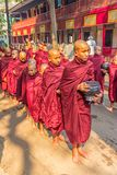 Buddhist novices in Mandalay Royalty Free Stock Photography