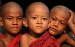 Buddhist novices, Myanmar Stock Photo