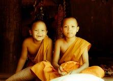 Buddhist novices Royalty Free Stock Images
