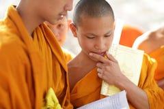 Buddhist novices studying in Luang Prabang, Laos. Royalty Free Stock Image