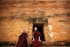 Buddhist novices Royalty Free Stock Photography