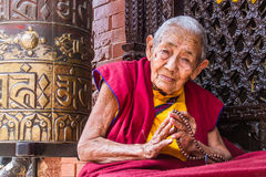 Buddhist Nun Royalty Free Stock Photos