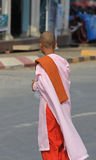 Buddhist Nun in Myanmar. Feb 2015 No model release Editorial use only Stock Images