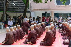 The buddhist nun ordination ceremony Stock Photos