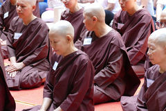 The buddhist nun ordination ceremony Stock Image