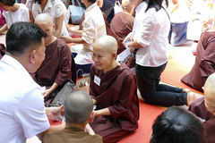 The buddhist nun ordination ceremony Royalty Free Stock Photo