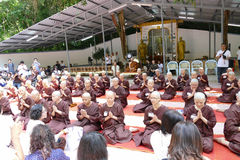 The buddhist nun ordination ceremony Royalty Free Stock Image