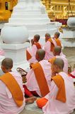 Buddhist nuns Myanmar Stock Images
