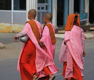 Buddhist Nuns in Myanmar Stock Images