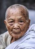 Buddhist old women portrait Royalty Free Stock Photos