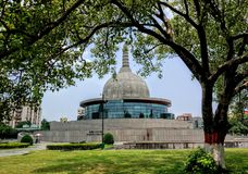 Buddhist Pagoda. A Buddhist pagoda at Patna, India stock image