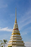 Buddhist pagoda. In buddist temple at thailand Stock Photos