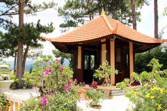 Buddhist pagoda in Dalat. Photo taken in Vietnam, Dalat royalty free stock photography