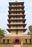 Buddhist pagoda at Fo Guang Shan temple of Kaohsiung, Taiwan. Stock Photo