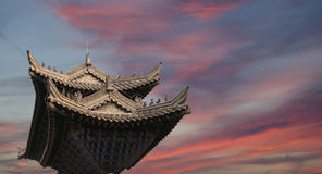 Buddhist pagoda located in southern Xian (Sian, Xi'an), China Royalty Free Stock Images