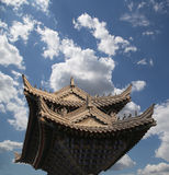 Buddhist pagoda located in southern Xian (Sian, Xi'an), China Royalty Free Stock Photography