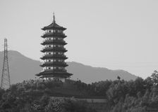 Buddhist Pagoda in Longquan, China royalty free stock photography
