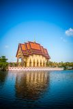Buddhist pagoda, part of temple complex Wat Plai Stock Image