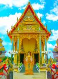 Buddhist pagoda, part of temple complex Wat Plai Laem on Samui island. Thailand Stock Photos