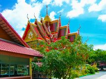 Buddhist pagoda, part of temple complex Wat Plai Laem on Samui island. Thailand Royalty Free Stock Image
