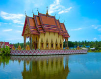 Buddhist pagoda, part of temple complex Wat Plai Laem on Samui island. Thailand Stock Photo