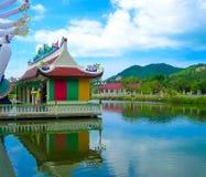 Buddhist pagoda, part of temple complex Wat Plai Laem on Samui island. Thailand Royalty Free Stock Image