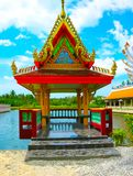 Buddhist pagoda, part of temple complex Wat Plai Laem on Samui island. Thailand Stock Image