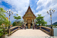Buddhist pagoda, part of temple complex Wat Plai Laem Royalty Free Stock Image