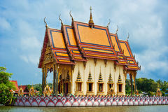 Buddhist pagoda, part of temple complex Wat Plai Laem Royalty Free Stock Photography
