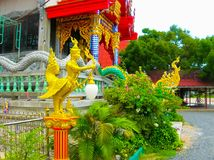 Buddhist pagoda, part of temple complex Wat Plai Laem on Samui island. Thailand Stock Images