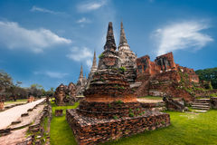 Buddhist pagoda ruins at Wat Phra Sri Sanphet temple. Ayutthaya, Thailand Stock Photo
