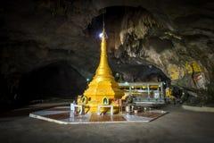 Buddhist Pagoda at Sadan Sin Min cave. Hpa-An, Myanmar (Burma) Royalty Free Stock Images