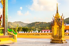 Buddhist pagoda Thailand view in forest Stock Image