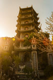 Buddhist pagoda tower, Marble mountains, Danang Royalty Free Stock Images