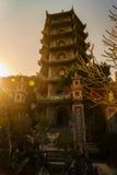 Buddhist pagoda tower, Marble mountains, Danang Stock Photography